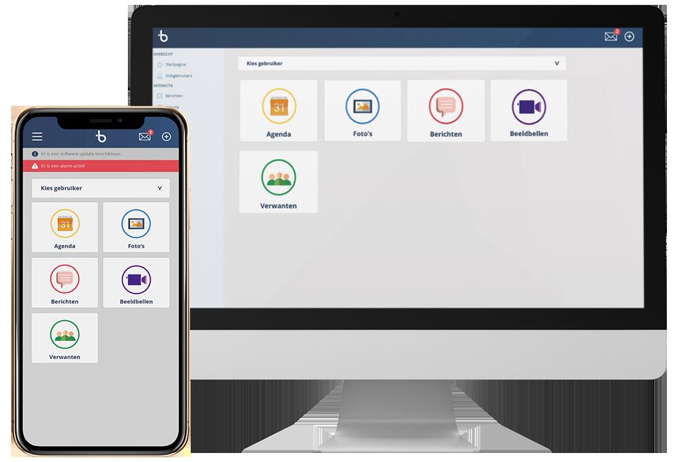 BBrain Dashboard & App voorbeeld