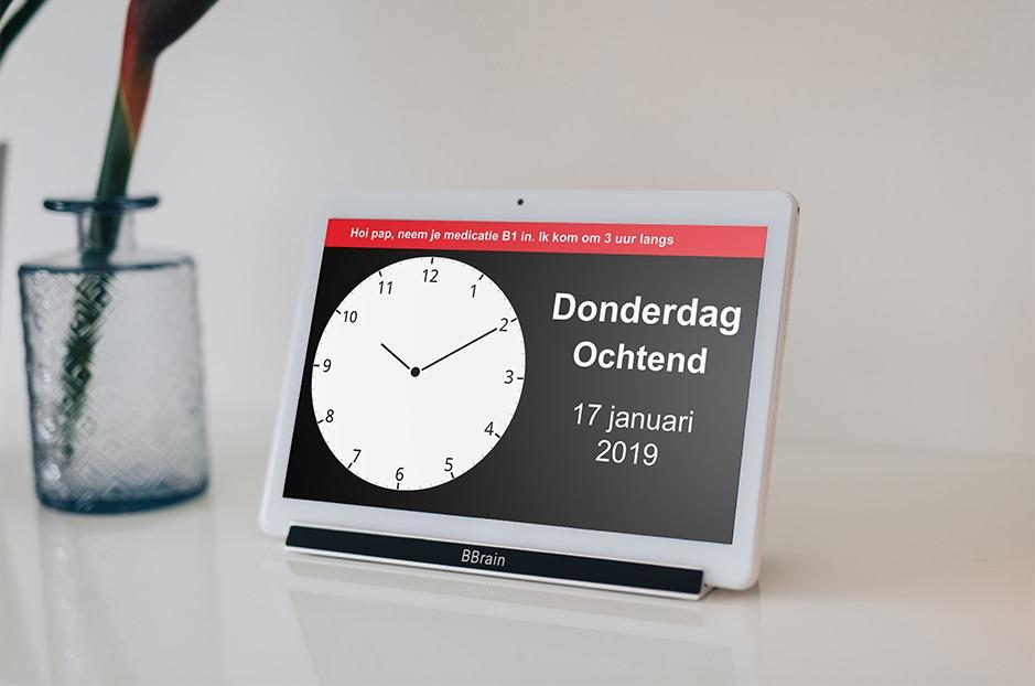BBrain D2 klok speciaal voor mensen met dementie Product