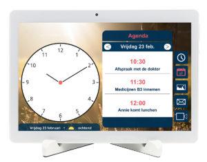 BBrain Kalenderklok-wit-agenda-NL