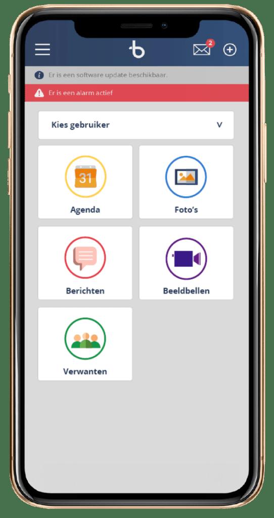 telefoon app voor BBrain