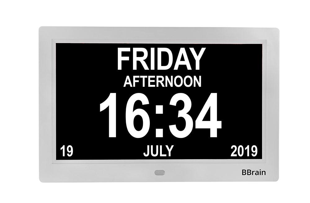 Banner Basic Digital Calender Clock white - time