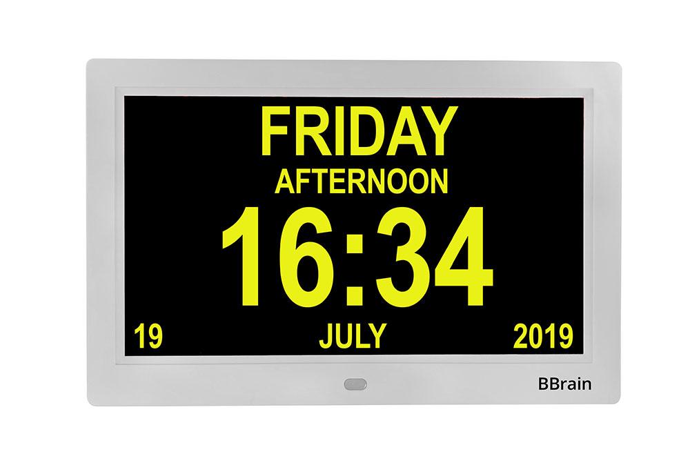 Banner Basic Digital Calender Clock white - yellow