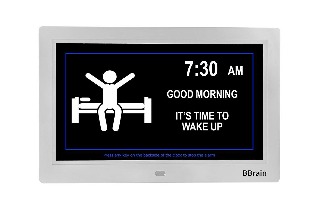 Banner Basic Digital Calender Clock white - alarm