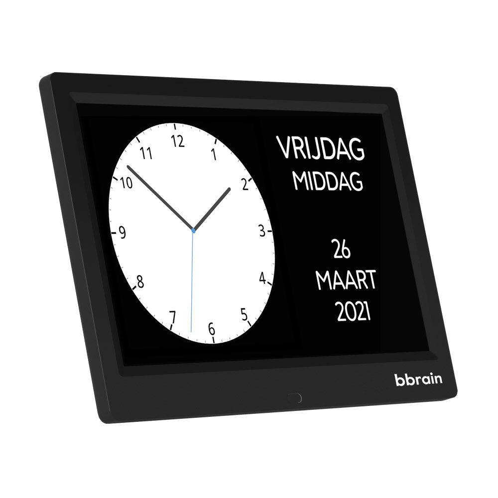 BBrain Basic – Analoge Dementieklok - Zwart