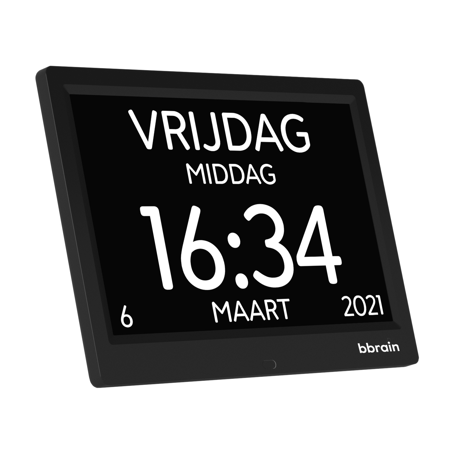 BBrain Basic - Digitale Kalenderklok 10 inch - Zwart