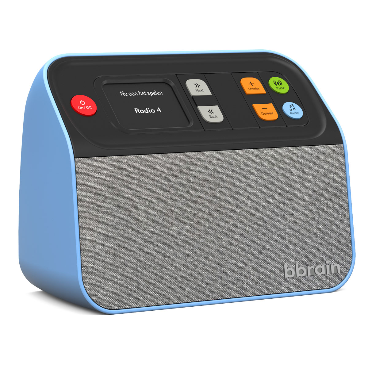 BBrain - Muziekspeler / Digitale Radio - Blauw