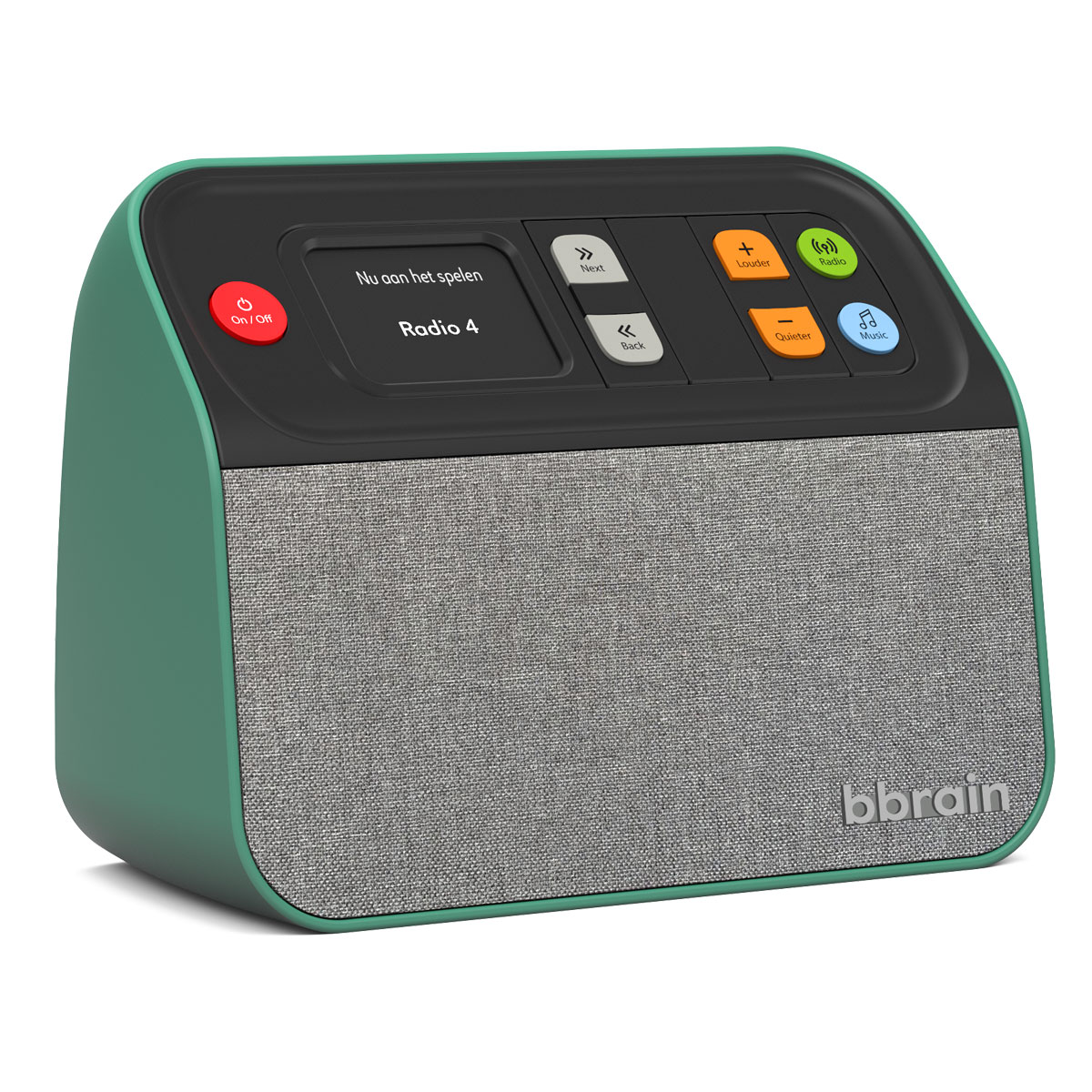 BBrain - Muziekspeler / Digitale Radio - Groen