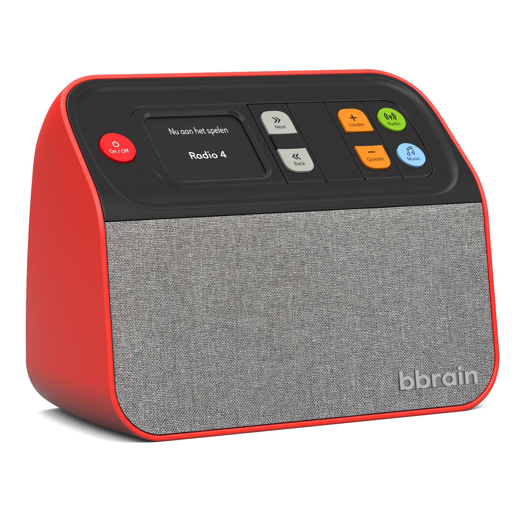 BBrain - Muziekspeler / Digitale Radio - Rood